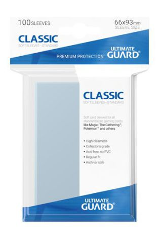 Ultimate Guard - Transparenta plastfickor 100st