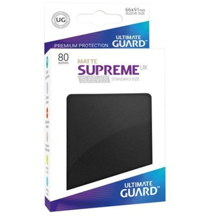 Ultimate Guard - Matt Svarta plastfickor 80st