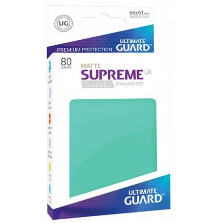 Ultimate Guard - Matt Turkosa plastfickor 80st