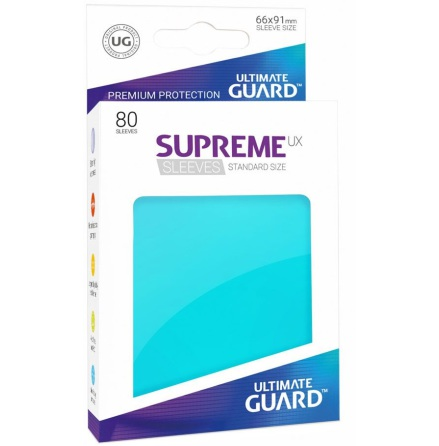 Ultimate Guard - Aquamarine plastfickor 80st