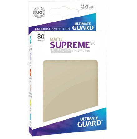 Ultimate Guard - Matt Sand plastfickor 80st