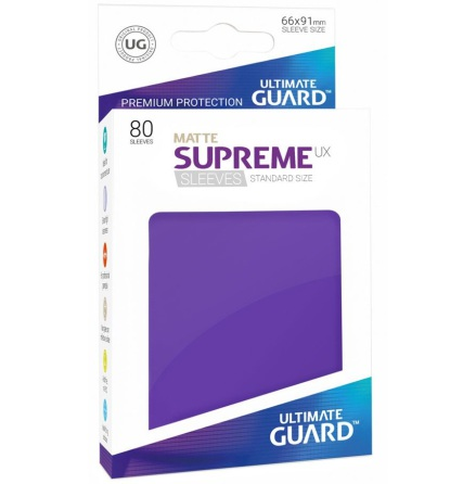 Ultimate Guard - Matt Lila plastfickor 80st
