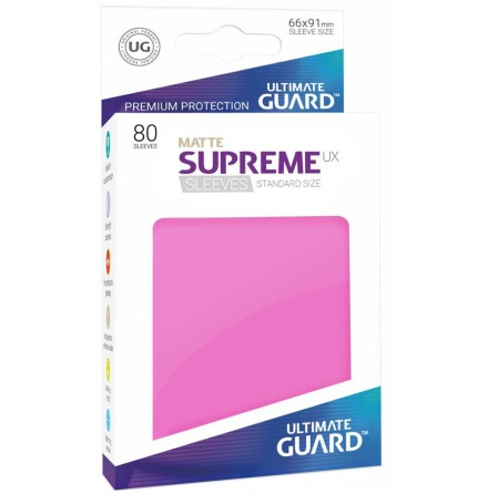 Ultimate Guard - Matt Rosa plastfickor 80st