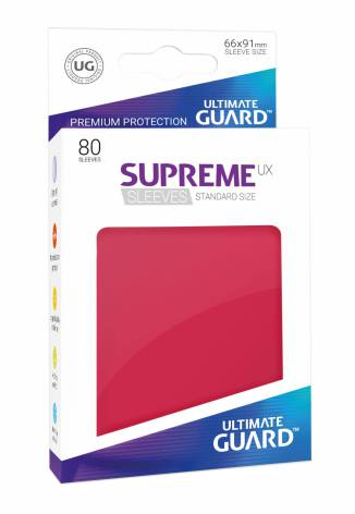 Ultimate Guard - Röda plastfickor 80st