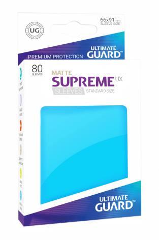 Ultimate Guard - Ljusblåa Matta plastfickor 80st