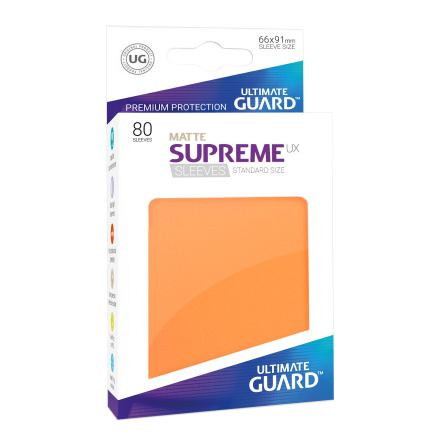 Ultimate Guard - Orange Matta plastfickor 80st