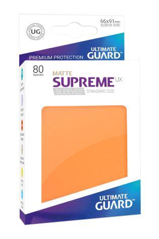 Ultimate Guard - Orange Matta plastfickor 80st